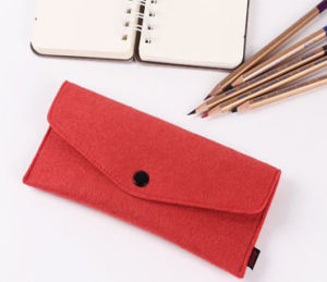 Felt Zipper Close Kids Pencil Pouch (S2007) pictures & photos