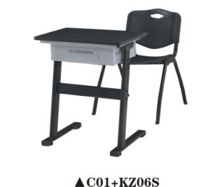 Plastic School Furniture Study Desk and Chair Set for Student pictures & photos