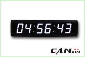 [Ganxin] 6digit 7segment Indoor Wall Clock LED Table Clock pictures & photos