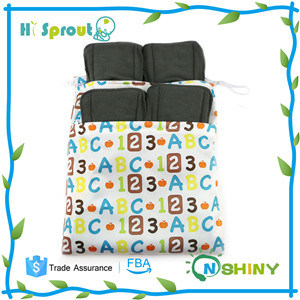 Baby Bamboo Charcoal Inserts Reusable Liners for Cloth Diapers