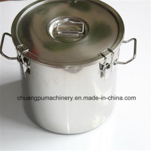 100L Cylindrical Lidded Stainless Steel Milk Bucket pictures & photos