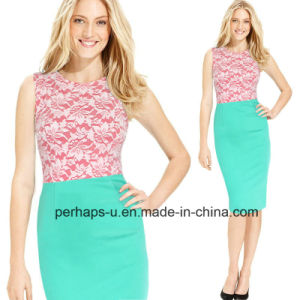 Fashion Lace and Cotton Womens Sex Fitness Dress pictures & photos