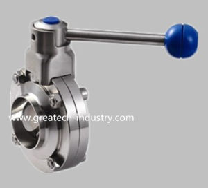 Stainless Steel Ss304 and Ss316L Welded Sanitary Butterfly Valve