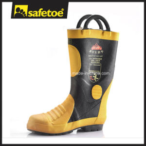 Anti Fire Safety Boots, Fire Fighter Safety Boots, Nitrile Safety Boots H-9018 pictures & photos