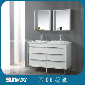 2016 Latest French Furniture Bathroom Cabinet with Double Sink pictures & photos
