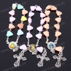Factory Sell Catholic Religious Themed Rosary Bracelet with Cross pictures & photos