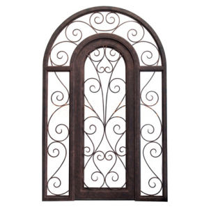Wrought Iron Single Entrance Door with Transom and Sitelites pictures & photos