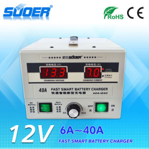 Suoer RoHS Approved Battery Charger 12V Battery Charger (A04-1240) pictures & photos