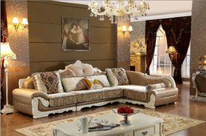 Comtemporary Europe Style Good Quality Corner Fabric Sofa pictures & photos