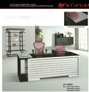 Foshan Customized or OEM Modern Style Office Glass Computer Desk