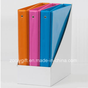 Top Sales Fashion 1.5 Inch Combined Color PVC 3 Ring Binders with PDQ pictures & photos