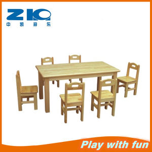 Indoor Wood Table with Chair Set for Preshool pictures & photos
