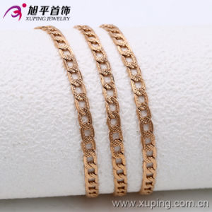 Xuping Fashion Rose Gold Color Scrub Surface Necklace (42537) pictures & photos