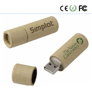 Wooden Cylindrical USB 2.0 Flash Memory Stick Drive U Disk pictures & photos