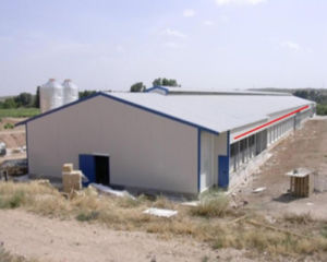 Prefabricated Poultry House with Full Set Poultry Farming equipment pictures & photos