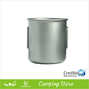 420ml Ultraight Camping Titanium Mug with Folding Handle pictures & photos