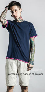 Cool Boys Fashion Embroidery Bottom Street T-Shirt pictures & photos