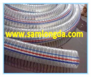 Clear PVC Hose with Spring Wire (PVC1522) pictures & photos
