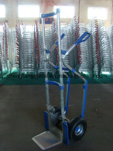 Plastic Hand Trolley with Two Pneumatic Wheel pictures & photos