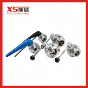Stainless Steel Sanitary C-Top Pneumatic Butterfly Valves with Sensor Position pictures & photos