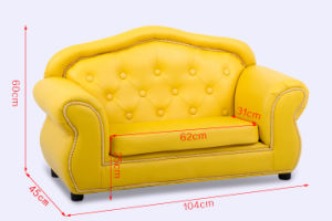 High Class 2 Seat Sofa Bright Colored PU Leather Sofa Set pictures & photos