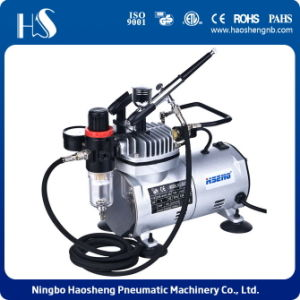 AS18K-2 Mini Airbrush Compressor with Pnumatic Airbrush for Airbrush Art pictures & photos
