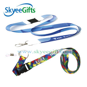 Custom Heat Transfer Printed Polyester Fabric Bottle Opener Lanyard pictures & photos
