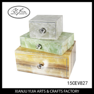 3 Layer Storage Jewelry Box with Small Drawer for Home Decor High End