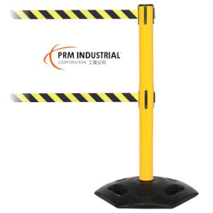 Weathermaster 300 Twin Yellow Finishing Retractable Belt Stanchion pictures & photos