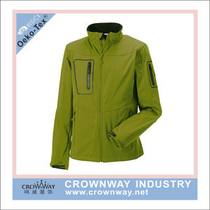 Mens Bonded Polyester Waterproof Softshell Jacket for Wholesale pictures & photos