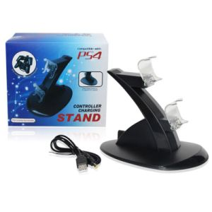 Dual USB Charging Dock Stand Wireless Controller Charger for Playstation PS4 pictures & photos