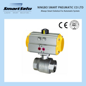 Pneumatic Screw End Ball Valve Pneumatic Actuator pictures & photos