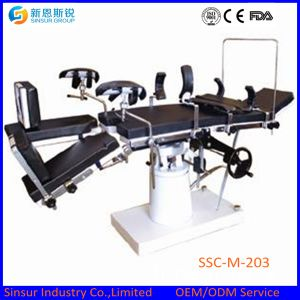 ISO/Ce Hospital Equipment Manual Hydraulic Multifunction Fluoroscopic Operating Surgical Bed pictures & photos