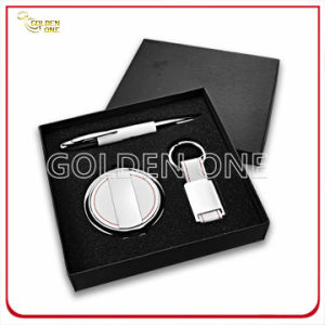 Promotion Round Shape Mirror and Keychain Gift Set pictures & photos