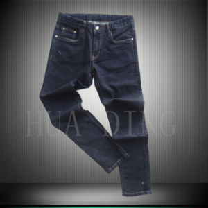 New High Quality Men′s Fashion Jeans in Black Color (HDMJ0045) pictures & photos