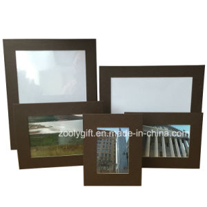 5X7 Blue Textured Art Paper Promotional Gift Photo Frame pictures & photos