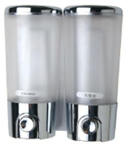 Excellent Quality 400ml*2 Chrome Plastic Soap Dispenser pictures & photos