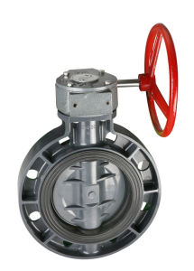 Gear Type Plastic Butterfly Valve pictures & photos