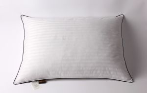Stripe Cover Black Piping White Goose Down Pillow pictures & photos
