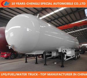 China Manufacture New 3 Axle 50cbm 56cbm LPG Tank Trailer for Sale pictures & photos