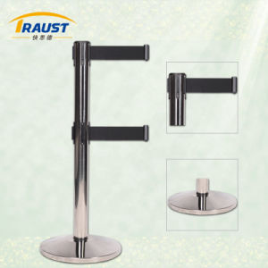 Double Belts Stainless Steel Retractable Belt Stanchion for Sale pictures & photos
