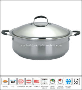 Big Stainless Steel Low Casserole pictures & photos