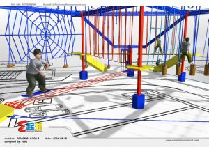 Innovative Climbing Frame of Indoor Playground with Adventure Activities pictures & photos