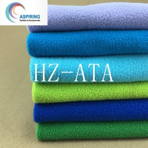 Anti-Static Knitted 100%Polyester Polar Fleece Fabric (DTY) pictures & photos