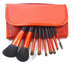 9pieces Luxury Classic Professional Gold Weasel Tail Hair Makeup Brush pictures & photos