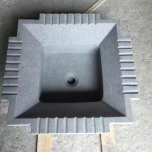 Black Dark Grey Granite Square Wash Basin & Sink pictures & photos