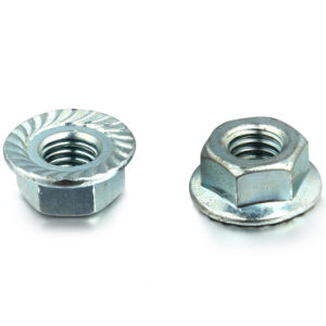 Hex Flange Nut DIN 6923 with Zinc-Plated pictures & photos