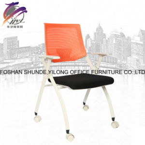Hyl-1011c Training Room Aluminium Folding Conference Chair with Writing Tablet pictures & photos