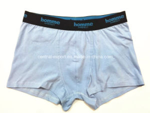 Solid Color New Style Men′s Boxer Short Underwear pictures & photos