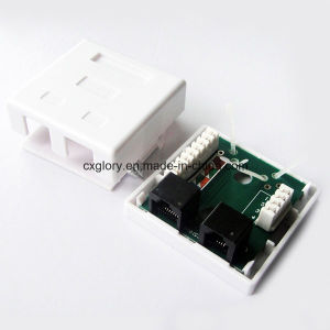 Dual Port Cat. 5e and Cat. 3 Surface Box pictures & photos